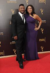 Austin Thoms, Traci Thoms bei der Ankunft zur Verleihung der Creative Arts Emmy Awards in Los Angeles / 110916 <br /> <br /> *** Arrivals at the Creative Arts Emmy Awards in Los Angeles, September 11, 2016 ***
