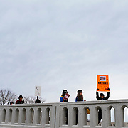 Janesville, Wisconsin, USA. 24th March, 2018. Protesters march to Congressman Paul Ryan's, Speaker of the House, office building in Janesville, Wisconsin's March for Our Lives event.