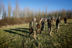 UK ENGLAND GRANTHAM 15DEC11 - The guns get ready for their day of pheasant shooting at Belvoir Castle Estate in Leicestershire, England...jre/Photo by Jiri Rezac..© Jiri Rezac 2011