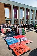 Roma 14 Novembre 2012.Manifestazione internazionale Eurostrike contro le misure di austerity imposte dall'Unione Europea;Il corteo degli studenti .Rome 14 November 2012 .International demonstration Eurostrike against austerity measures imposed by the European Union; rally of students ..