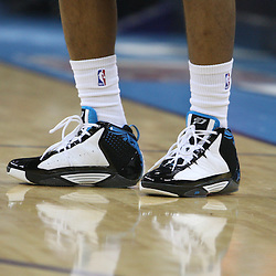 05 March 2009: New Orleans Hornets guard Chris Paul wearing his new CP3 II shoe by Jordan Brand for the first time during a NBA game between the New Orleans Hornets and the Dallas Mavericks at the New Orleans Arena in New Orleans, Louisiana.