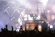 Deadmau5 performing at the Treasure Island Music Festival on Oct. 17, 2015 in San Francisco,CA. (Charles Hall/CHALLPHOTOS.COM)