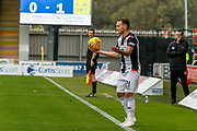 Lee Hodson of St Mirren looking for options during the Ladbrokes Scottish Premiership match between St Mirren and Hibernian at the Simple Digital Arena, Paisley, Scotland on 29th September 2018.