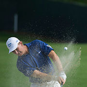 August 23, 2014:  Ernie Els (RSA) hits out of the sand trap on the 13th hole during the third round of The Barclays Fed Ex  Championship at Ridgewood Country Club in Paramus, NJ. Mandatory Credit:  Kostas Lymperopoulos/csm  (Credit Image: © Kostas Lymperopoulos/Cal Sport Media)