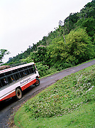 Bus in a convoy through Middle Andaman Island