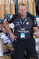 Head coach of Rhein Neckar Lowen Wolfgang Schwenke during the 1st Main round of EHL Champions League match between RK Celje Pivovarna Lasko (SLO) and Rhein Neckar Lowen (GER), on February 14, 2009, in Arena Zlatorog, Celje, Slovenia. Rhein Neckar Lowen won 34:28.  (Photo by Vid Ponikvar / Sportida)
