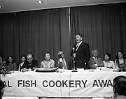 Seafood Cook in Rosslare 07/05/1976.05/07/1976.7th May 1976.Mr Michael Pat Murphy T.D. speaks at the prize giving ceremony at the National Fish Cookery Awards.