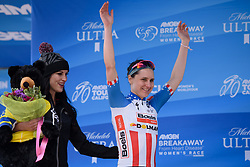 Stage winner, Megan Guarnier at Amgen Breakaway from Heart Disease Women's Race empowered with SRAM (Tour of California) - Stage 1. A 117km road race around Lake Tahoe, USA on 11th May 2017.