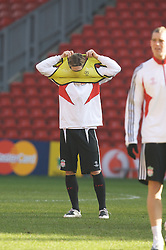 LIVERPOOL, ENGLAND - Monday, February 18, 2008: Liverpool's Fernando Torres during training at Anfield ahead of the UEFA Champions League First Knockout Round against FC Internazionale Milano. (Photo by David Rawcliffe/Propaganda)