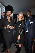 IRENE MAJOR; ANNA M. DZIERWA;; NKONTCH OU, The preview of LAPADA Art and Antiques Fair. Berkeley Sq. London. 21 September 2015.