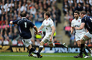 Twickenham, GREAT BRITAIN,  Englands'  Mark CUETO,  back passing to an advancing Nick EASTER,  during the 2011 Six Nations Rugby match, England vs Scotland. Played at the RFU Stadium Twickenham, Surrey on Sunday  13/03/2011 [Mandatory Credit, Peter Spurrier/Intersport-images]