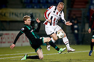 Onderwerp/Subject: Willem II - FC Groningen - Eredivisie<br /> Reklame:  <br /> Club/Team/Country: <br /> Seizoen/Season: 2012/2013<br /> FOTO/PHOTO: Kees VAN BUUREN (R) of Willem II in duel with Michael DE LEEUW (L) of FC Groningen. (Photo by PICS UNITED)<br /> <br /> Trefwoorden/Keywords: <br /> #04 $94 &plusmn;1355238911262<br /> Photo- &amp; Copyrights &copy; PICS UNITED <br /> P.O. Box 7164 - 5605 BE  EINDHOVEN (THE NETHERLANDS) <br /> Phone +31 (0)40 296 28 00 <br /> Fax +31 (0) 40 248 47 43 <br /> http://www.pics-united.com <br /> e-mail : sales@pics-united.com (If you would like to raise any issues regarding any aspects of products / service of PICS UNITED) or <br /> e-mail : sales@pics-united.com   <br /> <br /> ATTENTIE: <br /> Publicatie ook bij aanbieding door derden is slechts toegestaan na verkregen toestemming van Pics United. <br /> VOLLEDIGE NAAMSVERMELDING IS VERPLICHT! (&copy; PICS UNITED/Naam Fotograaf, zie veld 4 van de bestandsinfo 'credits') <br /> ATTENTION:  <br /> &copy; Pics United. Reproduction/publication of this photo by any parties is only permitted after authorisation is sought and obtained from  PICS UNITED- THE NETHERLANDS