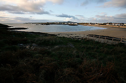 UNITED KINGDOM WALES ANGLESEY 18NOV10 - General view of Treaddur Bay in Anglesey, north Wales where Prince William serves as an RAF Search and Rescue helicopter pilot...Prince William and his fiancee Kate Middleton have been spotted walking along the beach here. ..jre/Photo by Jiri Rezac..© Jiri Rezac 2010