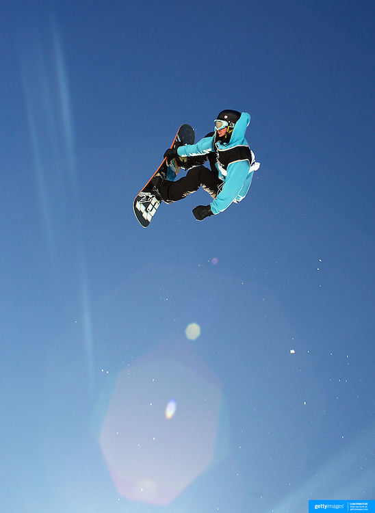 Aleksander Oestreng, Norway, in action during the Snowboard Slopestyle Men's competition at Snow Park, New Zealand during the Winter Games. Wanaka, New Zealand, 21st August 2011. Photo Tim Clayton