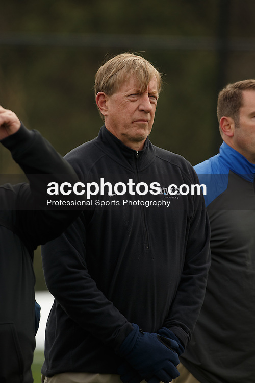 2015 February 28: Head coach John Danowski of the Duke Blue Devils during a 21-14 win over the Harvard Crimson Koskinen Stadium in Durham, NC.