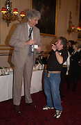 Chris Greener, the tallest living man and Terry Burrows the fastest window cleaner. 50th Anniversary Party of the Guinness Book of World Records, November 16, 2004 - The Royal Opera House London, Great Britain<br />