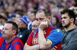Crystal Palace fans look dejected as they see their team lose in the FA Cup Final - Mandatory by-line: Robbie Stephenson/JMP - 21/05/2016 - FOOTBALL - Wembley Stadium - London, England - Crystal Palace v Manchester United - The Emirates FA Cup Final
