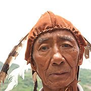 Zhou Aboriginal man (Kanakanavu subgroup) at Daerji in Namasia Township, Kaohsiung County, Taiwan