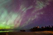 Aurora corona, Marquette Lighthouse, Marquette MI, 10/02/2013