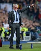 FUSSBALL   CHAMPIONS LEAGUE SAISON 2011/2012  HALBFINALE  RUECKSPIEL      Real Madrid - FC Bayern Muenchen           25.04.2012 Trainer Jupp Heynckes  (FC Bayern Muenchen)