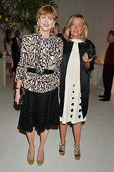 Left to right, VIRGINIA FRASER and PRINCESS CHANTAL OF HANOVER at a dinner hosted by Cartier in celebration of The Chelsea Flower Show held at The Hurlingham Club, London on 19th May 2014.