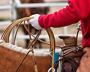 Buckaroos mostly use a reata or rope made of braided rawhide which is sixty feet long, however, some use poly ropes.
