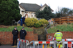 © Licensed to London News Pictures. 05/01/2016<br /> Sian Blake's home in Erith,Kent has turned into a crime scene today (05.01.2016) with officers from the Met's Homicide and Major Crime Command leading the search for the missing family.<br /> Police teams at the home of missing EX-EastEnders actress SIAN BLAKE who has been missing along with her Boyfriend and two sons since early December 2015.<br /> (Byline:Grant Falvey/LNP)