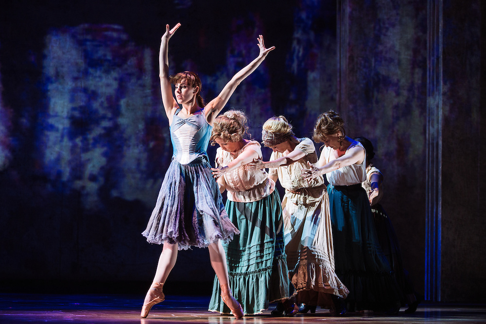 "Tiler Peck performs as Young Marie van Goethem during ""The Little Dancer Ballet"" in Little Dancer at the Kennedy Center in Washington, D.C. This is a world premiere Kennedy Center produced production that is directed and choreographed by Susan Stroman, book and lyrics by Lynn Ahrens, and music by Stephen Flaherty."