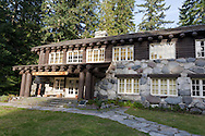 The historic Longmire Administration Building at Longmire in Mount Rainier National Park, Washington State, USA