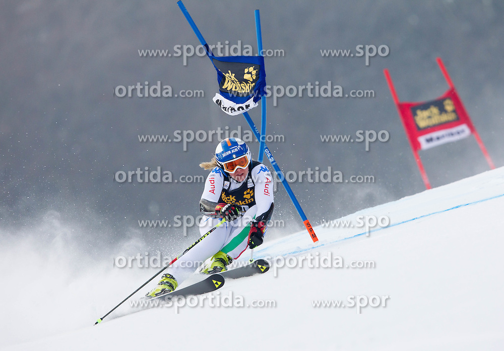 """KARBON Denise of Italy competes during 1st Run of FIS Alpine Ski World Cup 7th Ladies' Giant Slalom race named """"49th Golden Fox 2013"""", on January 26, 2013 in Mariborsko Pohorje, Maribor, Slovenia. (Photo By Vid Ponikvar / Sportida.com)"""