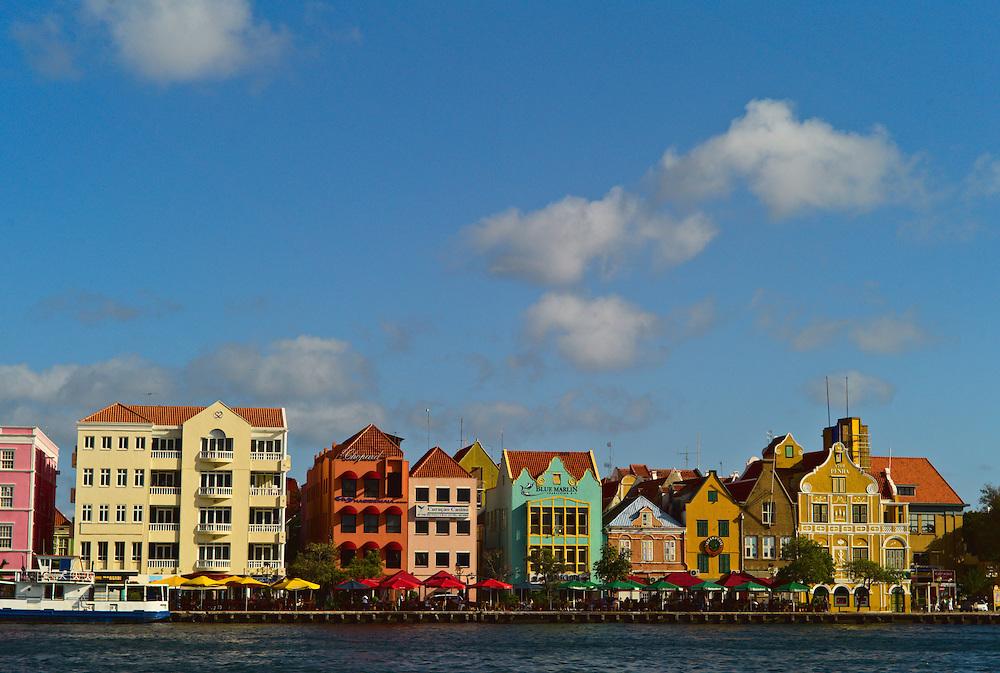 Dutch architecture along Handelskade, Willemstad, Curacao