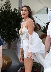 EXCLUSIVE: New bride Laura Zilli celebrates her first day of marriage in a bridal bikini on the beach in Miami. Best friend Samantha Rowley was on hand as well as proud father, Chef Aldo Zilli. 08 Apr 2018 Pictured: Laura Zilli; Samantha Rowley; Also Zilli. Photo credit: MEGA TheMegaAgency.com +1 888 505 6342