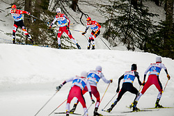 February 22, 2019 - Seefeld In Tirol, AUSTRIA - 190222 Mario Seidl of Austria, Jan Schmid of Norway and Franz-Josef Rehrl of Austria compete in men's nordic combined 10 km Individual Gundersen during the FIS Nordic World Ski Championships on February 22, 2019 in Seefeld in Tirol..Photo: Vegard Wivestad GrÂ¿tt / BILDBYRN / kod VG / 170288 (Credit Image: © Vegard Wivestad Gr¯Tt/Bildbyran via ZUMA Press)