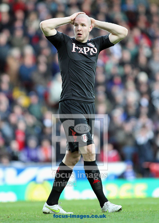 Picture by MIchael Sedgwick/Focus Images Ltd. 07900 363072.14/01/12.Philippe Senderos of Fulham during the match against Blackburn Rovers in the Barclays Premier League match at the Ewood Park stadium, Blackburn, Lancashire.