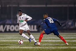 January 5, 2019 - Saint Ouen, France - Omenuke Mfulu ( Red Star FC ) - Claudio Beauvue  (Credit Image: © Panoramic via ZUMA Press)