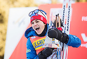 VAL DI FIEMME, ITALIEN - 2017-01-08: Heidi Weng under damernas 9 km fristil jaktstart, den 8 januari, 2017 i Val di Fiemme, Italien.<br /> Foto: Nils Petter Nilsson/Ombrello<br /> ***BETALBILD***