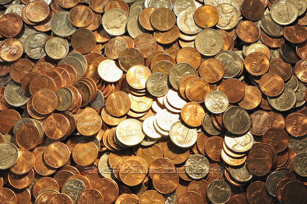 American coins.