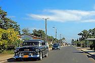Car in Cruces, Cienfuegos Province, Cuba.