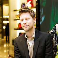 BEIJING, APRIL 11, 2011 :  Christopher Bailey, chief creative director of Burberry, poses for a portrait at the main Burberry store in Beijing.