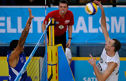 09-01-2011 VOLLEYBAL: CEV SATELLITE INDOOR BEACHVOLLEYBALL: AALSMEER<br /> The first CEV Indoor beachvolleyball tounament semi final NED-TUR / Richard Schuil<br /> ©2011-WWW.FOTOHOOGENDOORN.NL