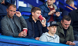 BIRKENHEAD, ENGLAND - Sunday, September 10, 2017: Liverpool's Under-18 manager Steven Gerrard with coach Ian Dunbavin [L] at the Under-23 FA Premier League 2 Division 1 match between Liverpool and Manchester City at Prenton Park. (Pic by David Rawcliffe/Propaganda)
