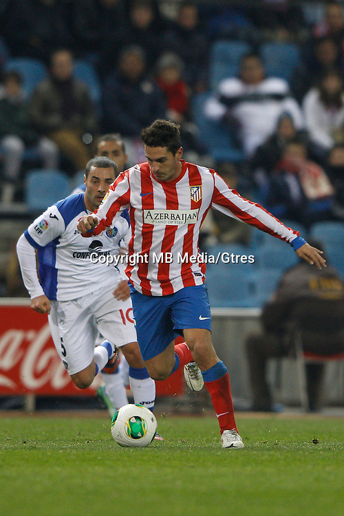 12.12.2012 SPAIN - Copa del Rey 12/13 Matchday 8th  match played between Atletico de Madrid vs Getafe C.F. (3-0) at Vicente Calderon stadium. The picture show Jorge Resurreccion Koke (Spanish midfielder of At. Madrid)
