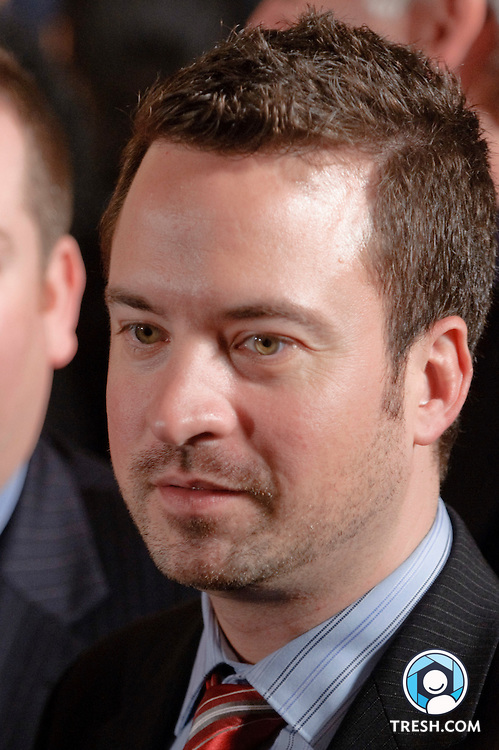 Chance Mitchell of the National Gay and Lesbian Chamber of Commerce following President Obama's remarks to commemorate the enactment.of the Matthew Shepard and James Byrd, Jr. Hate Crimes Prevention Act in the East Room of the White House, Wednesday, October 28, 2009.