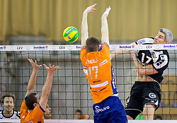 27-01-2015 SLO: CEV CL ACH Volley Ljubljana - Berlin Recycling Volleys, Ljubljana<br /> Mario Koncilja of ACH vs Rob Bontje of Berlin Volleys during volleyball match between ACH Volley Ljubljana (SLO) and Berlin Recycling Volleys (GER) in Round #6 in Pool C of CEV DenizBank Volleyball Champions League.