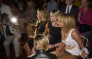 Ophelie Winters, Kiera Chaplin and Rosanna Arquette and Ciara Mastrianni, 9 back ) . Christian Dior couture show. Ecole Nationale Superiore des Beaux- Arts. Paris. 7 July 2001. © Copyright Photograph by Dafydd Jones 66 Stockwell Park Rd. London SW9 0DA Tel 020 7733 0108 www.dafjones.com