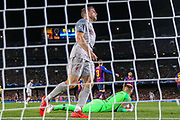 Barcelona goalkeeper Marc-André ter Stegen (1) saves a shot from Liverpool midfielder James Milner (7) who looks dejected during the Champions League semi-final leg 1 of 2 match between Barcelona and Liverpool at Camp Nou, Barcelona, Spain on 1 May 2019.