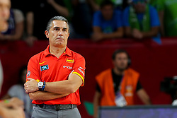 Sergio Scariolo, head coach of Spain during basketball match between National Teams of Slovenia and Spain at Day 15 in Semifinal of the FIBA EuroBasket 2017 at Sinan Erdem Dome in Istanbul, Turkey on September 14, 2017. Photo by Vid Ponikvar / Sportida