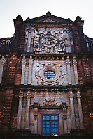 The facade of Bom Jesus in Old Goa, India.