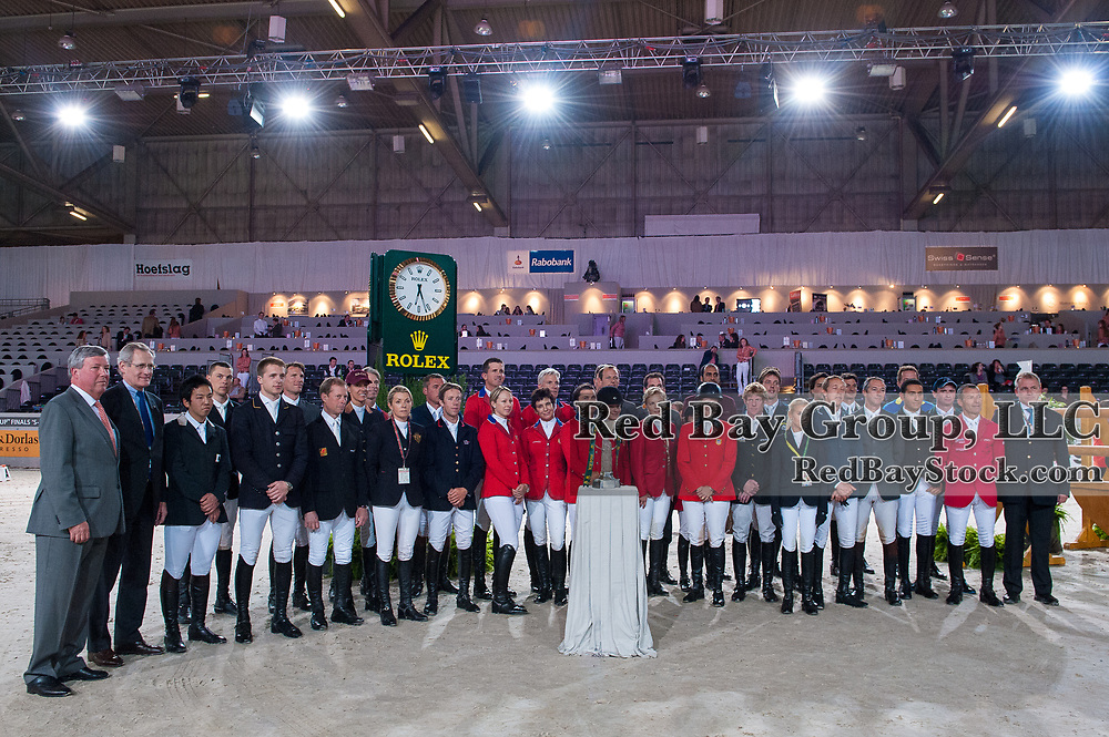 All competing riders at the Rolex FEI World Cup Jumping Final - Indoor Brabant 2012 - Brabanthal, 's-Hertogenbosch, Netherlands - 19 April 2012