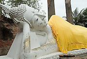 Reclining Buddha statue at Wat Chai Mongkol. Ayutthaya.